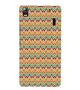 Zig Zag Chevron 3D Hard Polycarbonate Designer Back Case Cover for Lenovo K3 Note