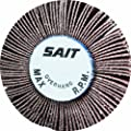 United Abrasives/SAIT 70101 2A Flap Wheel, 3 x 1 x 1/4, 80X, 10-Pack
