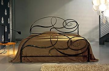 Letto matrimoniale in ferro battuto Capriccio di Cosatto, Anticato Bianco