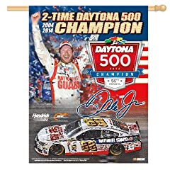 Dale Earnhardt Jr 2014 Daytona 500 2-Time Champion 37 x 37 Vertical Banner Flag by... by WinCraft