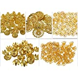 Fancy Most Popular Gold Bead Cap Designs For Jewellery Making, Pack Of 250 Caps