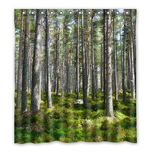 straucher-in-wald-natur-landschaft-duschvorhang-polyester-duschvorhang-167-cm-x183-cm-66-x72