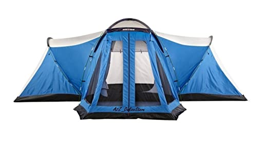Relax with family and friends in this Porch Tent by Swiss Gear. Designed with 2 rooms 1 door and a screened porch it sleeps 10 people.  sc 1 st  Outdoor Sport Recreation & Swiss Gear 10 Person Four Room Porch Tent - Outdoor Sport Recreation
