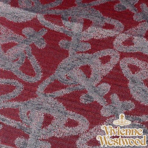 (ヴィヴィアン・ウエストウッド) Vivienne Westwood s20-f756-0002 オーブロゴ入りストールS20-F756-0002 グレー×レッド 正規品