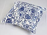 Alaska Bear® Pure Silk Square Throw Pillow Case Decorative Cushion Cover Pillowcase - BETTER than SATIN, COTTON or POLYESTER materials, Hypo-allergenic (18 by 18 Inches, Ink Blue)