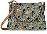 Snoogg peacock feathers Womens Carry Around Sling Bags