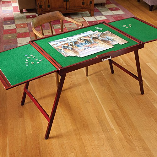 bits and pieces wooden fold and go jigsaw table
