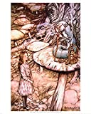 Alice in Wonderland Caterpillar art print Poster - 11x14 Poster Print by Arthur Rackham, 11x14
