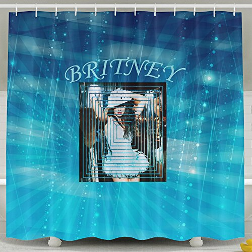 HOHOE American Female Singer Fashions Shower Curtain For Washhouse White