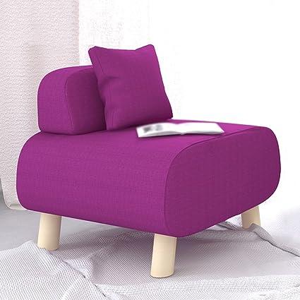 Taburete creativo Sofá moderno simple de la tela Silla perezosa ocasional 56 * 54.5 * 50CM Sofá heces ( Color : Rosa Roja , Diseño : Pack of 3 )