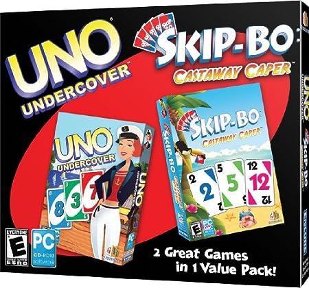 Uno: Undercover / Skip-Bo: Castaway Caper (Jewel Case)