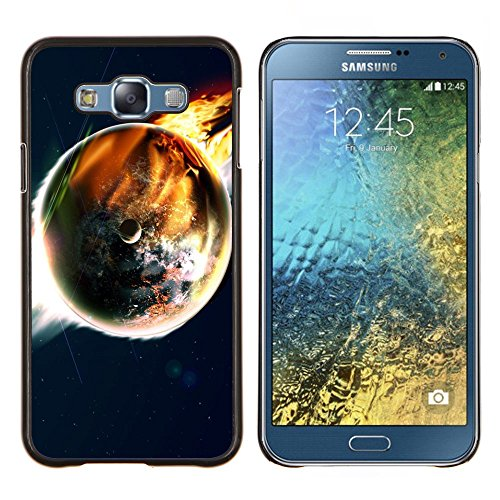 GRECELL CITY GIFT PHONE CASE /// Cellphone Custodia protettiva Caso Dura Cassa Copertura / Hard Case for Samsung Galaxy E7 E700 /// Doomsday End World Art Terra Flames Apocalypse Doomsday End World Art Earth Flames Apocalypse