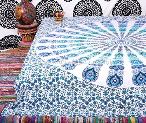 Indian Peacock Mandala Tapestry ,Indian Wall Hanging ,Hippie Indian Tapestry,bohemian Wall Hanging,queen Bedspread Throw Decor Art