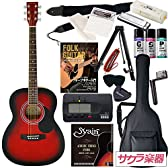 HONEY BEE アコースティックギター F-15 初心者入門16点セット /レッドSB(9707021248)