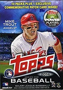 2014 Topps Series 1 MLB Baseball Exclusive Factory Sealed Retail Box with 10 Packs+EXCLUSIVE SPECIAL COMMEMORATIVE PATCH Card !