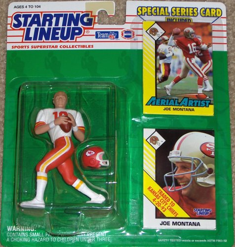 1993 Joe Montana Kansas City Chiefs Kenner SLU Starting Lineup NFL Football Figure - 1