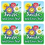 Smile, God Loves You! Stickers (Scrip...