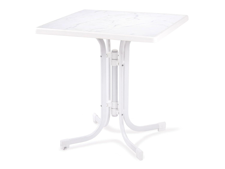 Dajar Ess/Dine Tisch und Relax 70 x 70 cm, Marble weiß jetzt kaufen