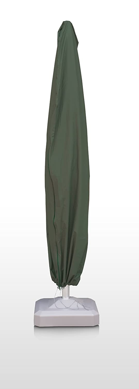 Eigbrecht 146263 Wood Cover Abdeckhaube Schutzhülle für Sonnenschirm grün mit Reißverschluss 220x33x70cm