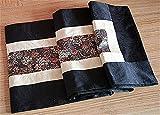 Black Classical Handmade Home Decor Silk Flower Oblong Tablecloth Table