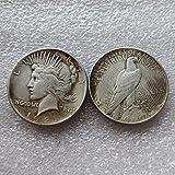 2 Pcs /lot 1921 Peace Dollars Coins