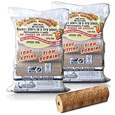 X10 Extra Large Blazers Fuel Logs 2kglog - For A Long Lasting Fire Stoves Open Fire Pits Etc - Comes With Thechemicalhut Anti-bac Pen by The Chemical Hut