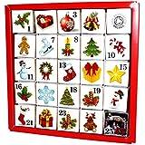 """Tee Adventskalender """"Christmas Ornaments"""", 25 einzelne Boxen mit würzigen BIO-Tees in hochwertigen Pyramiden-Teebeutel"""