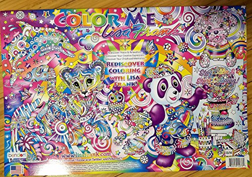 Color Me Lisa Frank 12 Posters Adult Coloring Book (Full Size Coloring Books compare prices)
