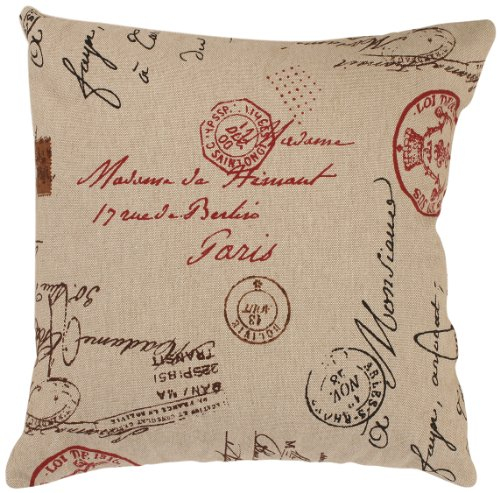 Pillow Perfect Linen/Red French Postale