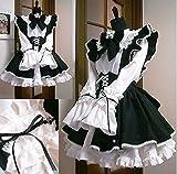 カチューシャ付き メイド 服 衣装3点セット コスチューム レディース Mサイズ
