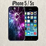 iPhone Case Cracked Screen Prank for iPhone 5 / 5s Rubber Black (Ships from CA)