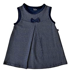 Babeez Baby Girl All over printed Dress with bow (95% Cotton 5% Elasthan) to fit height 86 - 92cms