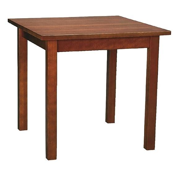 Tavolo da pranzo in legno color noce. 690x 690mm.