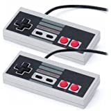 Mosuch NES Controller For Nintendo Pack 2 (Color: Grey)