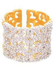 Creation Jewellery Gold Rodium Plated Gold Plated Clip-On Ring For Women - B00Z9UTRDM
