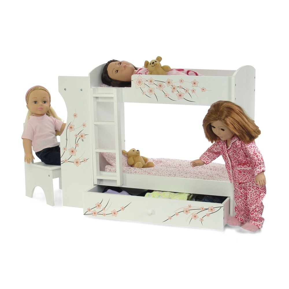 The Seasoning Products Sale Wooden Doll Bunk Bed For 18 Inch Doll