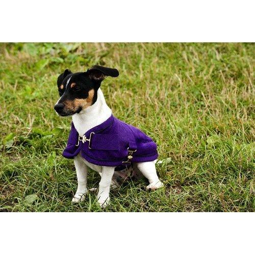 Artikelbild: EQUI-THÈME 'Polar' Hundedecke Rückenlänge 56cm Lila /Violett Einfassung Schwarz