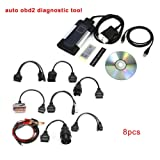 Hendont Bluetooth TCS CDP Pro Plus for autocom OBD2 Diagnostic Tool+8PCS Car Cables