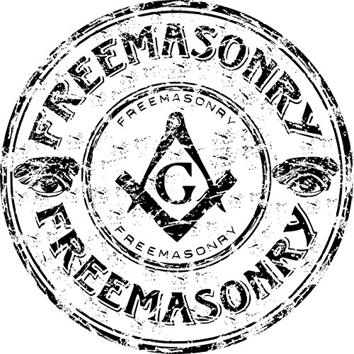 Freemasonry Vinyl Decals Stickers (TWO PACK!!!)|Cars Trucks Vans Walls Laptops|Full Color|2-4 In Decals|KCD623 (Mason Jars Wide Mouth 4 Oz compare prices)
