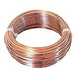 Bare Copper Wire/Choose : 10 Ga To 30 Ga (10 Ga - 25 Ft Coil) (Color: Bright Copper, Tamaño: 10 Ga - 25 Ft Coil)