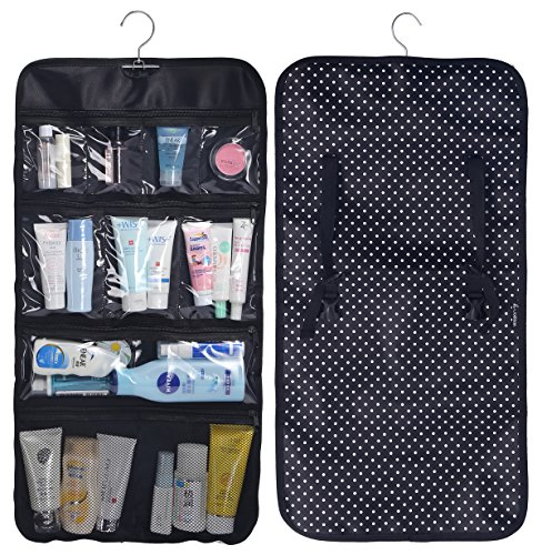 WODISON Transparent Clear Hanging Travel Toiletry Cosmetic Organizer Storage Bag Dot