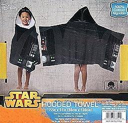 Disney Star Wars The Force Awakens Darth Vader Hooded Bath Towel