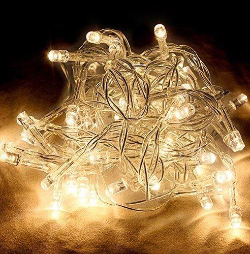 CORST® bianco caldo 5m 50 LED Fata Natale Haloween festa di nozze Luci Battery Operated - Led Si Illumina Di Nozze