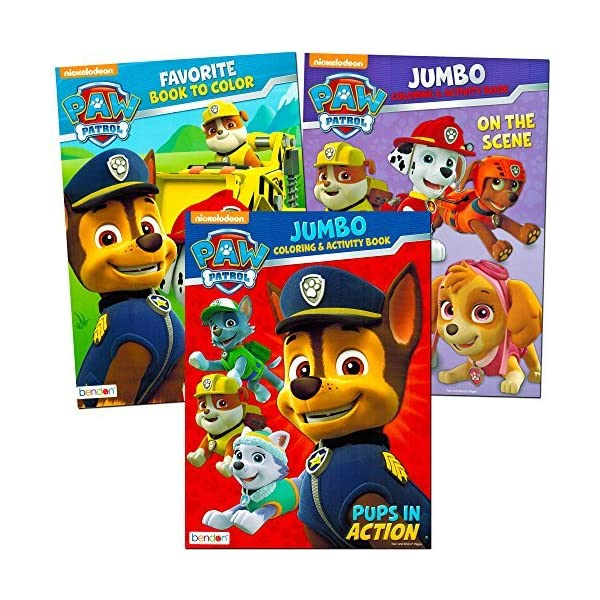 Paw Patrol Coloring And Activity Book Set 3 Coloring Books