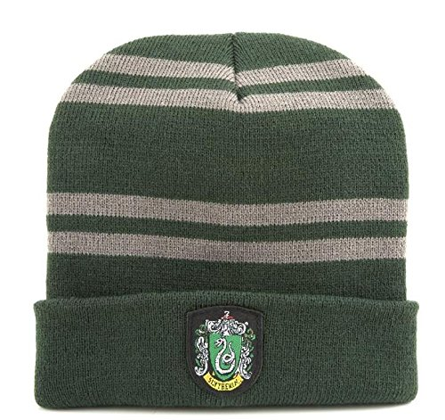 "BERRETTO Cappello HARRY POTTER Casa SERPEVERDE Originale ""BEANIE"" Ufficiale SLYTHERIN"