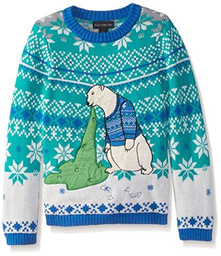 Blizzard Bay Big Boys' Polar Bear Light Up Vomit, Blue/Cream/Green, Medium