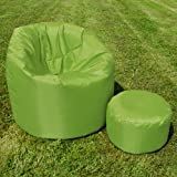 XL Bean Bag with Handle by Bean Bag Bazaar® - Indoor/Outdoor Extra Large Bean Bags LIME GREEN