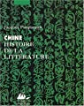Chine : Histoire de la litt�rature par Pimpaneau