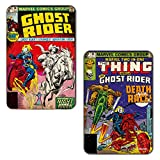 Marvel 'Ghost Rider Race' Rectangular MDF Fridge Magnet (7.5 cm x 10 cm, Set of 2)