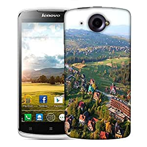 Snoogg City From The Top Designer Protective Phone Back Case Cover For Lenovo S920